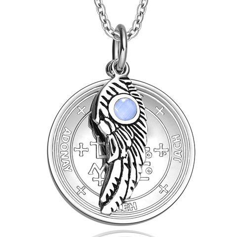 Archangel Samael Sigil Magic Wing Amulet
