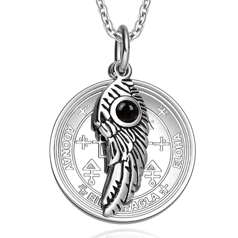 Archangel Uriel Sigil Magic Wing Amulet