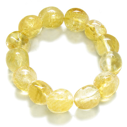 Amulet Tumbled Citrine Crystals Good Luck Money Powers Lucky Charm Gemstone Bracelet