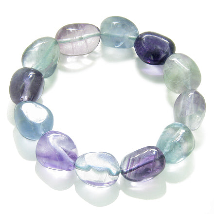 Amulet Double Lucky Set Fluorite Citrine Tumbled Crystal Good Luck Aura Protection Powers Bracelets