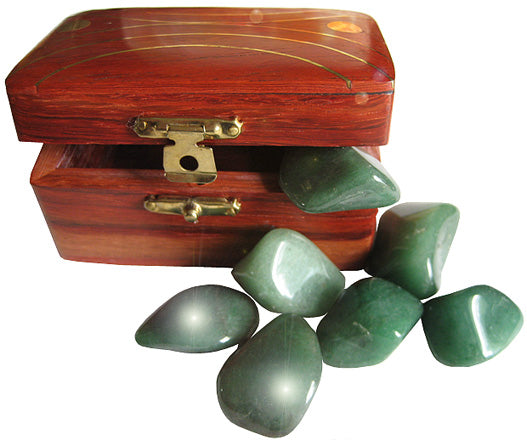 Wish Box Treasure Chest With Aventurine Crystals