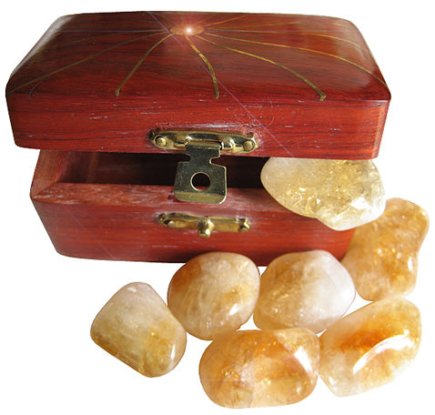 Money Talisman Treasure Chest With Citrine Crystals