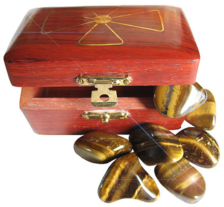 Protection From Evil Eye Treasure Chest With Tiger Eye