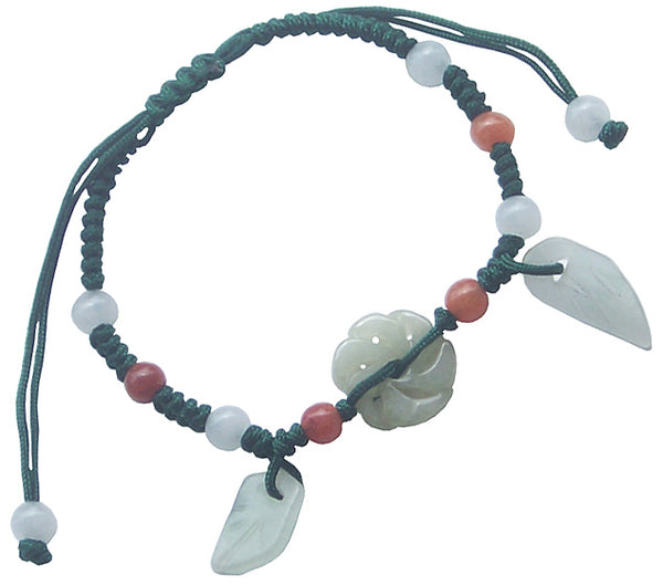 Good Luck Flower - Jade Bracelet