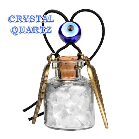 Angel Magic Wings Small Car Charms Home Decor Gem Bottles Crystal Smoky Quartz Protection Amulets