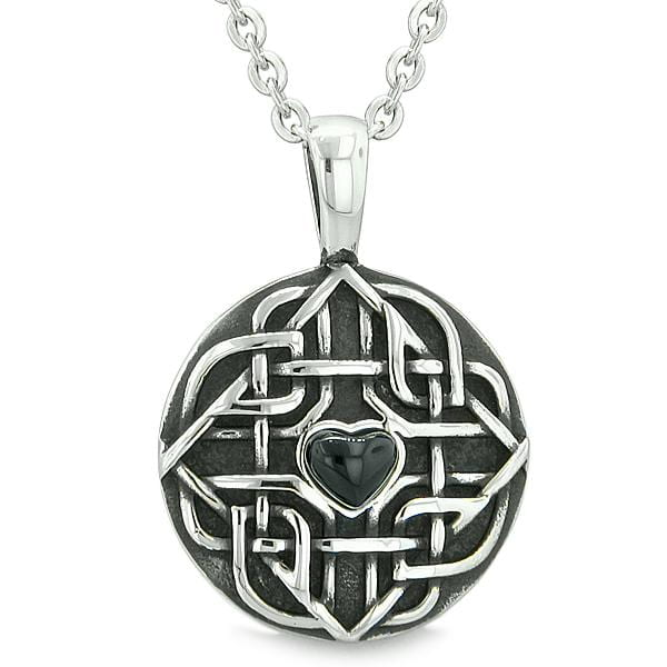 Amulet Celtic Shield Knot Magic Heart And Protection Powers