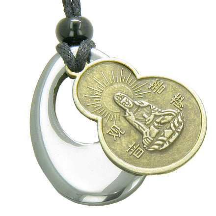 Magic Circle Kwan Yin Quan Tibetan Protection Talisman Necklace