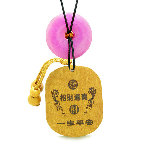 Courage Dragon Lucky Coins Car Charm Home Decor Hot Pink Quartz Donut Protection Magic Amulet