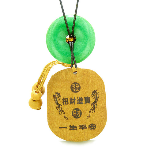 Courage Dragon Lucky Coins Car Charm Home Decor Green Quartz Donut Protection Powers Magic Amulet