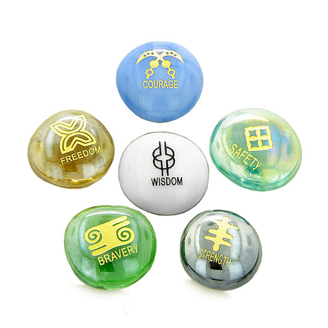 Inspirational Amulets Ancient Powerful Symbols Self Confidence Encouragement Glass Engraved Stones