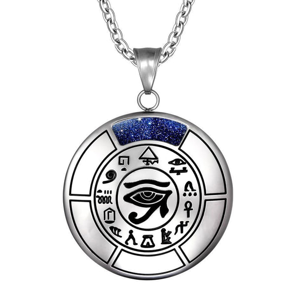 All Seeing and Feeling Eye of Horus Egyptian Magic Amulet Pendant Necklace