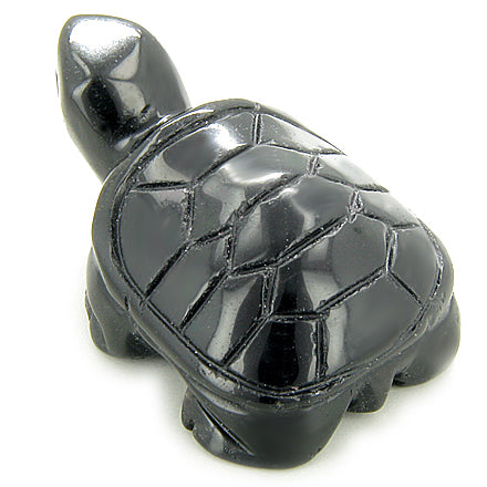 Spiritual Protection Talisman Turtle Black Onyx Carving