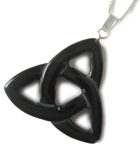 "Spiritual Protection Celtic Triquetra Knot With 16"" Chain"