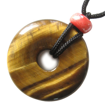 Protection From Evil Eye Donut With Black Cord And Sp Bail