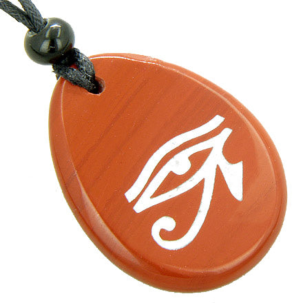 Magic Eye Of Horus Amulet Believe Word Stone Lucky Necklace