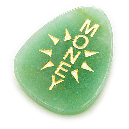 Sun Energy Aventurine Money Amulet Word Wish Gemstone