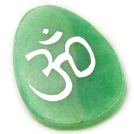 A Money Talisman Word Stone Lucky Om Symbol In Aventurine