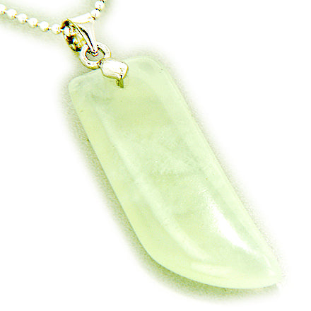 Talisman Lucky Crystal Horn In 18Kgp And Green Jade Gem