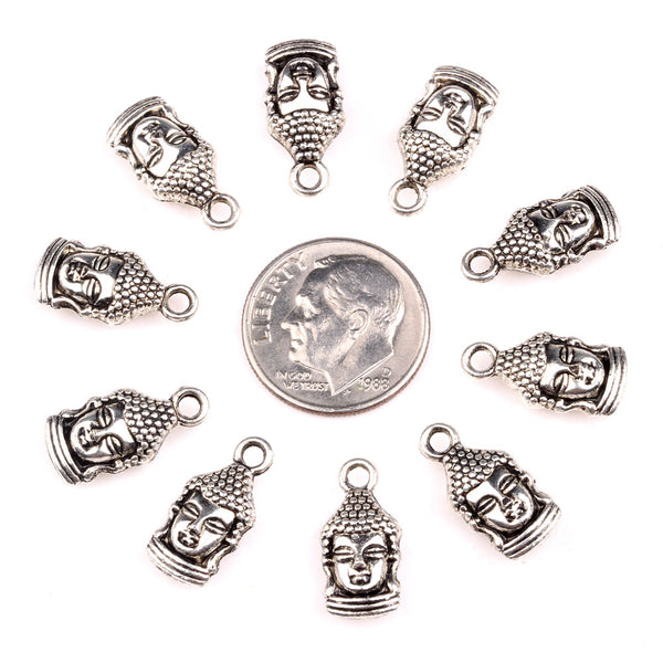 20 Pieces Magic Kwan Yin Quan Lucky Charms Findings for Jewelry Pendants Necklace Making 12mm X 8mm