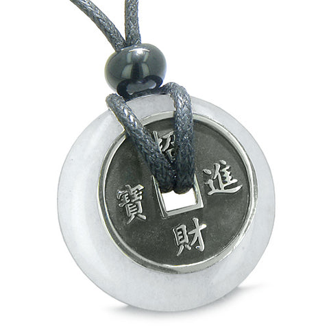 Amulets Love Couples or Best Friends Set Lucky Coins Onyx Jade Donuts Yin Yang Pendants Necklaces