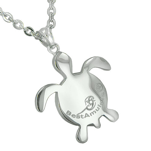 Amulets Yin Yang Turtles Energy Love Couple Best Friends Lucky Charms Powers Pendant Necklaces