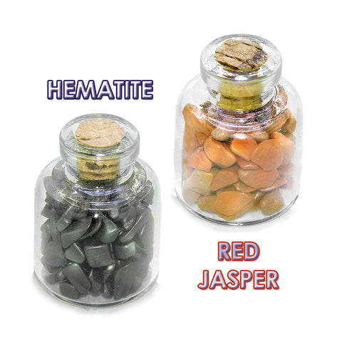 Life is Tough but I am Tougher Courage Inspirational Amulets Glass Stones Jasper Hematite Bottles