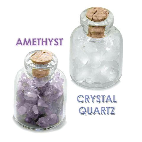 Archangel Raphael Sigil Guardian Angel Blessings Amulet Glass Stone Amethyst Quartz Bottles