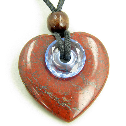 A Double Lucky Good Luck and Evil Eye Protection Heart Necklace