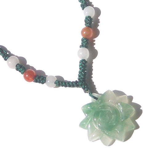 Good Luck Flower - Jade Necklace For Baby