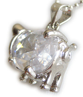 Lucky Pig And Money Symbol Faceted Crystal 18 Kgp Pendant