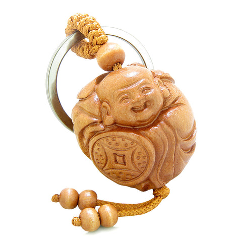 Amulet Laughing Baby Buddha Caring Bat Protection Lucky Coin Shield Feng Shui Keychain Blessing
