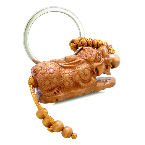 Amulet Courage Dragon Guarding Lucky Coins Treasure Charms Feng Shui Symbols Keychain Blessing