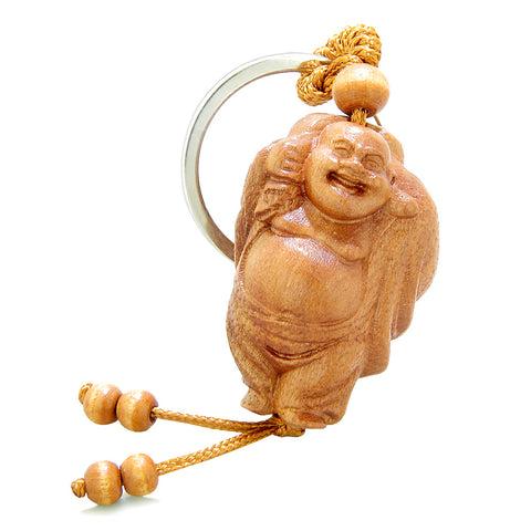 Amulet Happy Laughing Buddha Caring Money Bag Charms Fortune Feng Shui Symbols Keychain Set Blessings