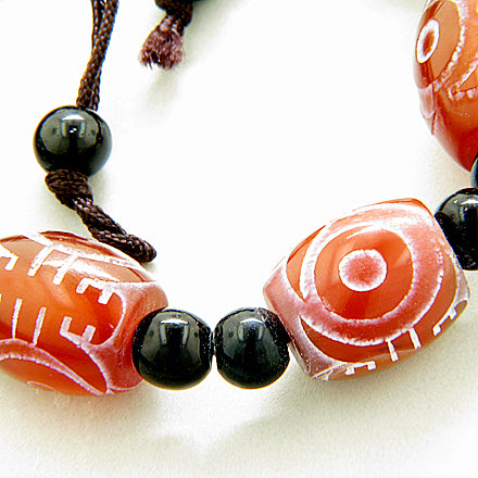 Good Luck And Protection Talisman Eye Frosted Agate Bracelet