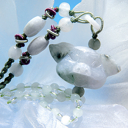Good Luck Money Talisman Pig Unique Jade Necklace