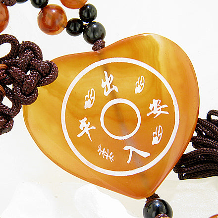 Good Luck Protection Kwan Yin Quan Talisman Carnelian Blessing
