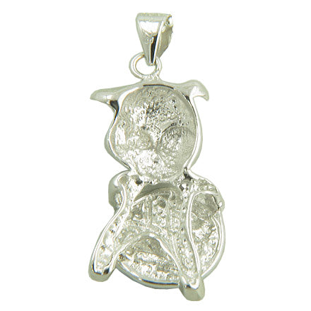 Money Amulet Lucky Pig Fortune Pendant in 925 Sterling Silver Necklace