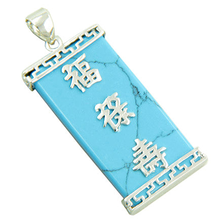 Amulet Good Luck, Magic and Protection Turquoise Silver Pendant