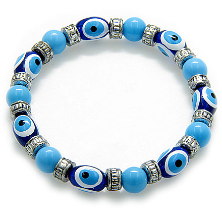 Evil Eye Protection Baby Blue Bracelet