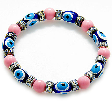 Evil Eye Protection Baby Pink Bracelet