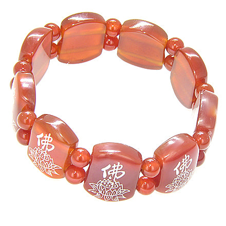 Protection Talisman Sunflower Carnelian Bracelet