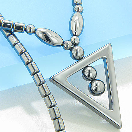 Protection Hematite Triangle Necklace