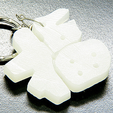 Good Luck Talisman Lucky Charm Symbol White Jade Keychain