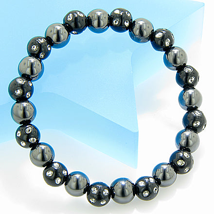 Magnetic Protection Hematite Black Crystals Bracelet