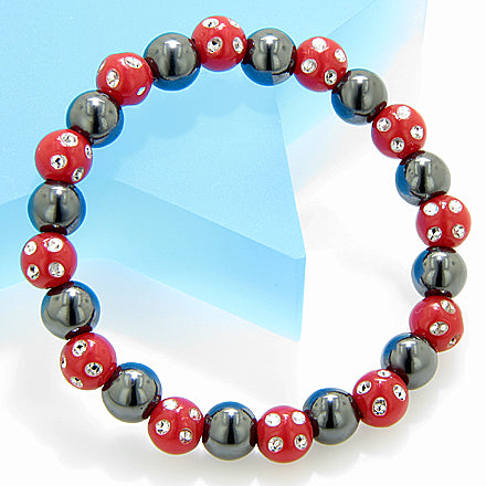Magnetic Protection Hematite Red Crystals Bracelet