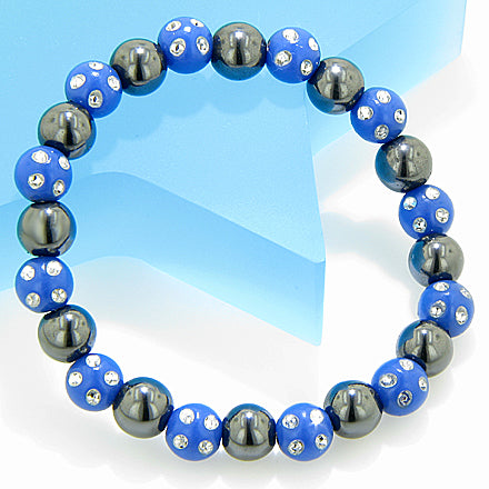 Magnetic Protection Hematite Blue Crystals Bracelet