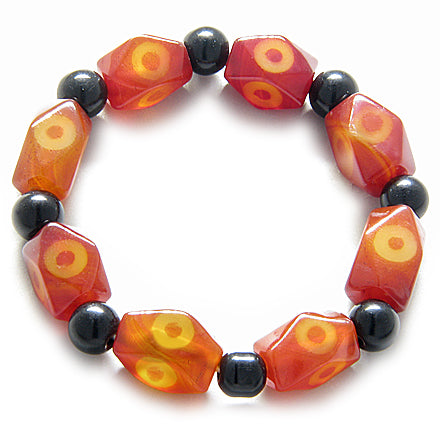 Good Luck Faceted Eye Agate Bracelet