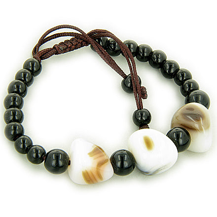 Good Luck Talisman White Agate Nuggets Bracelet