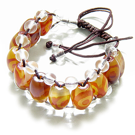Talisman Good Luck And Protection Eye Bullets Agate Bracelet