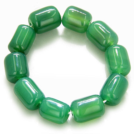 Good Luck Large Nuggets Green Agate Bracelet